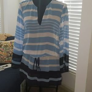 Michael Kors blue and navy Beach Cover Up